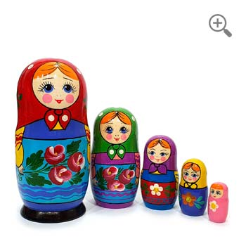 Matryoshka dolls classic vintage