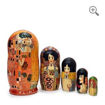 Matriochka Baiser de Gustav Klimt