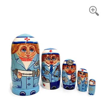 Matriochka Médecins et Infirmières