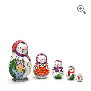 matryoshka bonhommes de neige