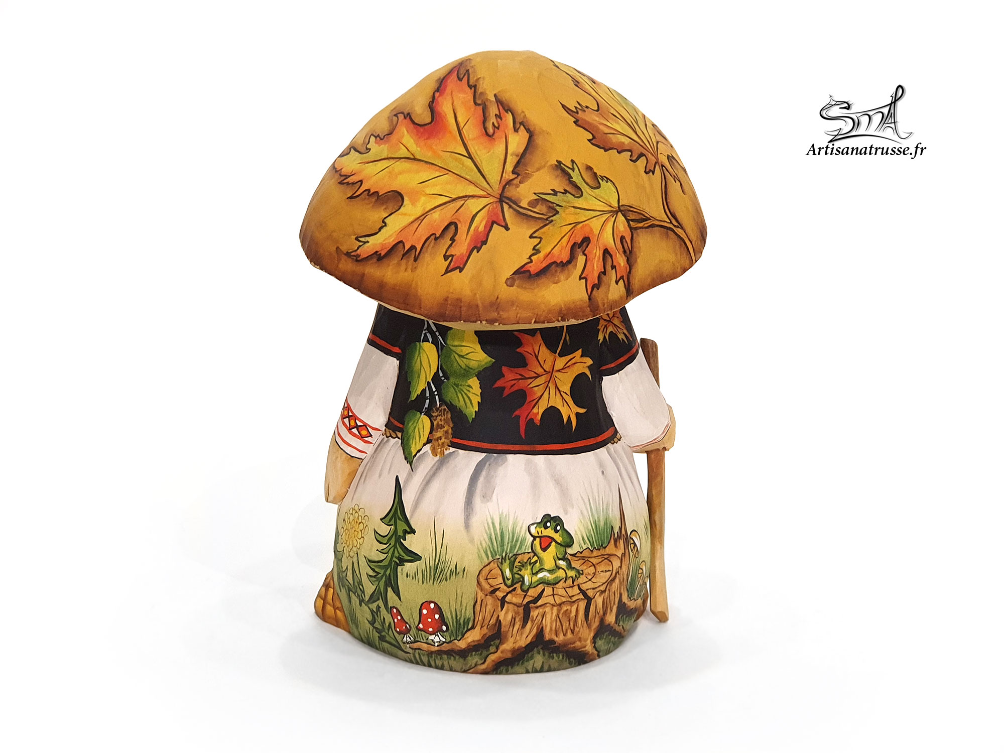 champignon folklorique Russe taillé en bois massif