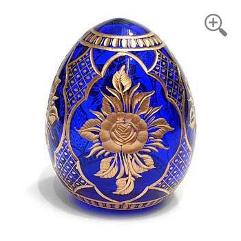 Oeuf style Fabergé en cristal